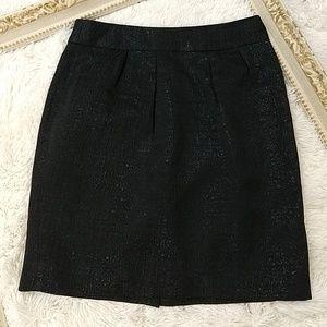 Banana Republic Black Sparkle Mini Pencil Skirt
